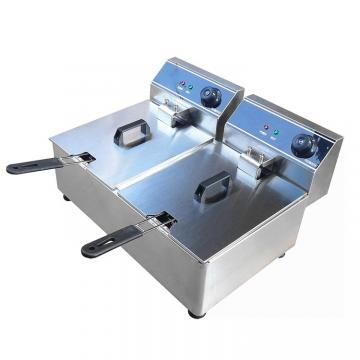 Gas Power Source Fast Food Equipments with Double Tank Gas Deep Fryer Ofg-322