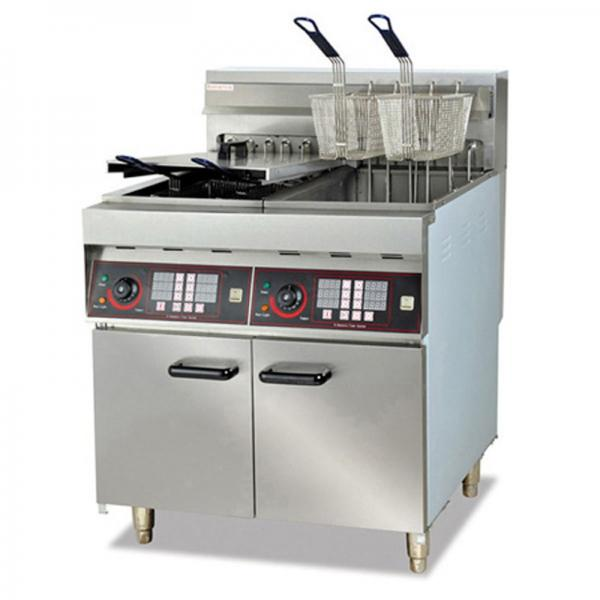 17+17LTR Electric Double Deep Counttop Chicken Fryer for Top-Rated (WF-172)